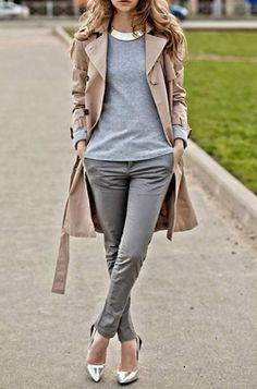 grey and beige, style, chic, fashion, casaco, cinza e bege
