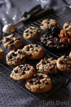 chocolate, cherry & pecan cookies