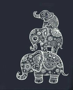 Ideas Tattoo Elephant Drawing Illustrations For 2019 Doodle Art Drawing, Mandala Drawing, Art Drawings, Elephant Tattoo Design, Elephant Design, Animal Tattoos, Mandala Design, Art Pages, Belle Photo