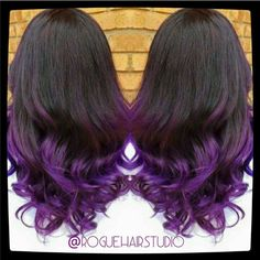 ombre hair brown to purple - Google Search
