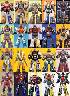 These are the Megazords that most of the teams of Power Rangers over the years have used most of all- (Dino) Megazord - Mighty Morphin Power Ran. Megazords of Power Rangers 20 Power Rangers Timeline, Power Rangers Movie 2017, Power Ranger Party, Go Go Power Rangers, Power Rangers Turbo, Gi Joe, Gundam, Zoids, Thundercats Toys