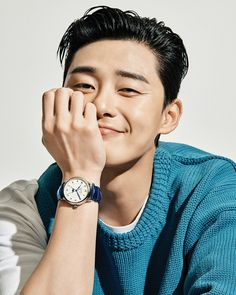 Park Seo-joon in Esquire Korea modeling Montblanc automatic watches