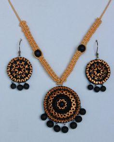Terracotta jewellery - Pendant and earrings Earth Studio,http://www.amazon.in/dp/B00KE71Y04/ref=cm_sw_r_pi_dp_fbGEtb1J6D9RJT5J