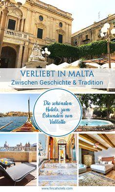 Malta, allen voran die Haupstadt Valletta begeistern mit Geschichte und Tradition. Wir haben uns sofort verliebt in die wunderschöne Stadt und haben für euch die schönsten Hotels zusammen gestellt, um Valletta zu erkunden. #hotel #valletta #malta #urlaub #boutiquehotels #fincahotels
