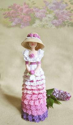 Cloth doll Rag doll Amigurumi Crocheted doll Art by ViDollStudio