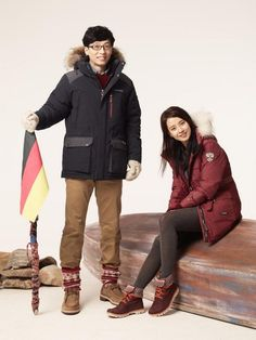 Yoo Jae Suk and Song Ji Hyo