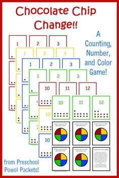 Chocolate Chip Change: A {FREE} Counting, Numbers, & Colors Game!!   from Preschool Powol Packets