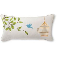 Avery Bird Cage Decorative Pillow - White : Target ($22) ❤ liked on Polyvore featuring home, home decor, throw pillows, target toss pillows, white throw pillows, avery, white accent pillows and white birdcage