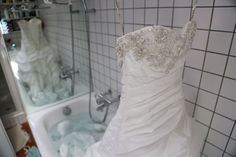When cleaning your wedding dress, it is important to know what kind of fabric the dress is made out of and to take the dress details into consideration. Diy Wedding Dress Cleaning, Diy Wedding Keepsakes, Long Wedding Dresses, Wedding Gowns, Wedding Dress Preservation, Wedding Questions, Deb Dresses, Kinds Of Fabric, Amazing Weddings