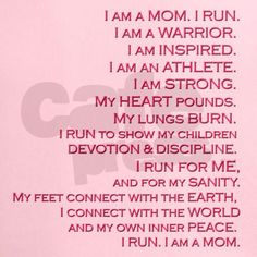 """Inspired Runner, Mom"" Peformance Dry T-Shirt by sublimesanctuary"