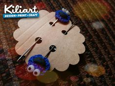 Cookies monster hijab pin..polymer clay pin..handmade..Malaysia boleh!!