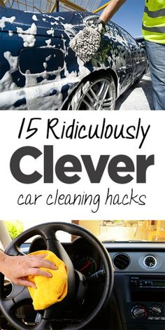 15 Ridiculously Clever Car Cleaning Hacks http://passmasterdrivinglessons.co.uk