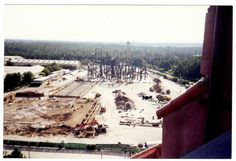 Rock N Roller Coaster under Construction as seen from the Tower of Terror in Disney MGM Studios at Walt Disney World via @Daveh787
