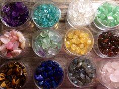 Multi Gemstone Chip Nugget Bead Assortment Sampler by FlatCatGems