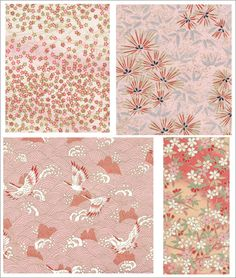 Free Paper Designs to Print Japanese Textiles, Japanese Patterns, Japanese Prints, Japanese Style, Textures Patterns, Print Patterns, Fabric Design, Pattern Design, Shabby Chic Paper