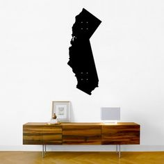 sideboard and print: california silhouette print