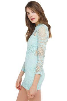 Mini Dress | Mint Lace Dress | Spring Dresses -AKIRA