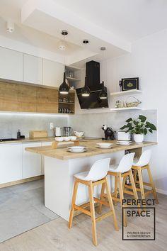 Scandinavian Interior Design, Decor Interior Design, Modern Interior, Ikea Kitchen, Kitchen Dining, U Shaped Kitchen, Kitchen Cabinet Storage, Minimalist Kitchen, Küchen Design