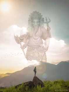 Meeting with lord ganesha in the unknown Photo, Photo Manipulation, Lord, Statue, Statue Of Liberty, Lord Ganesha