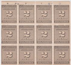 United States Department of Agriculture.  Booklet of 12 revenue stamps, series of 1935 to pay for 2 pounds of potatoes.