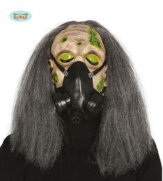 Máscara zombi con antigas y pelo de pvc | Comprar