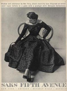 Saks Fifth Avenue Ad,1950s