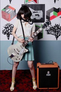 blue skirt        guitar