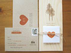 Custom Wooden Wedding Invitation by PineandParcel on Etsy, $8.00