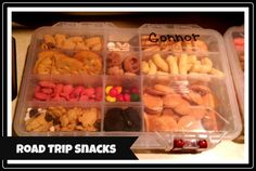 Road trip snack boxes - great for your drive down to WDW!