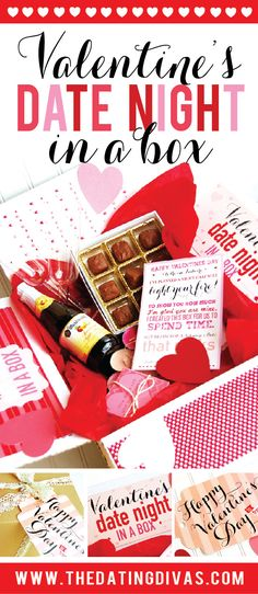 Love this Date Night idea for Valentine Day! Romantic date night in a box!! www.TheDatingDivas.com