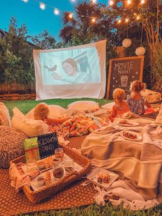 Backyard Movie Party, Backyard Movie Nights, Outdoor Movie Nights, Outdoor Projector Screens, Movies Under The Stars, Experience Life, Family Movie Night, Summer Kids, Backyard Ideas