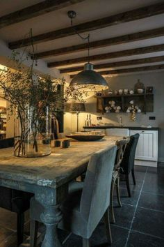 75 Modern Farmhouse Dining Room Decor Ideas - napier news French Country Dining Room, Country Kitchen Farmhouse, French Country Decorating, Modern Farmhouse, Farmhouse Table, Rustic Table, Modern Rustic, Country French, Farmhouse Ideas