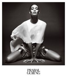 Prabal Gurung tapped Joan Smalls for its spring 2013 campaign. Lensed by Daniel Jackson, Joan poses in black and white studio images reflecting a sense of liberation and ease. Joan Smalls, Old Models, Female Models, Prabel Gurung, Daniel Jackson, Fashion Advertising, Advertising Campaign, Madame, Fashion Models