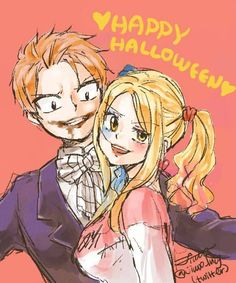 Fairy Tail - Natsu x Lucy (as Joker and Harley Quinn) Fairy Tail Love, Fairy Tail Nalu, Fairy Tail Amour, Art Fairy Tail, Image Fairy Tail, Fairy Tail Natsu And Lucy, Fairy Tale Anime, Fairy Tail Guild, Fairy Tail Ships
