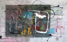 "Saatchi Art Artist Damjan Pavlovic; Painting, ""A70 (Contemporary abstract minimalist Spiritual Architecture Landscape Acrylic on canvas Large wall art Painting)"" #art"