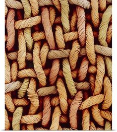 Susumu Nishinaga Solid-Faced Canvas Print Wall Art Print entitled Woven fabric fibres, SEM, None Pattern Photography, Texture Photography, Abstract Photography, Unity Photography, Fabric Photography, Photography Composition, Macro Photography, Patterns In Nature, Textures Patterns
