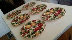 Set of Six Waverly Garden Room Salad Plates #Waverly