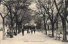 La promenade des Cordeliers (aujourd'hui place Jules Nadi) en 1910.