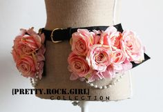 Hey, I found this really awesome Etsy listing at https://www.etsy.com/listing/163054464/rose-peplum-leather-belt-with-pearl