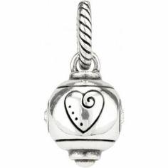 ABC Heart Ball Bead Charm