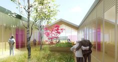Alzheimer nursing home - CoCo architectureCoCo architecture Healthcare Architecture, Healthcare Design, Concept Architecture, Architecture Design, Residence Senior, Centre Hospitalier, Grow Home, Community Nursing, Rest House