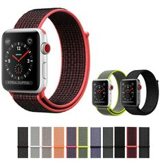 b86697377f0 CRESTED Sport loop For Apple Watch band iWatch nylon watch strap bracelet  watchband hook-and-loop closure clasp