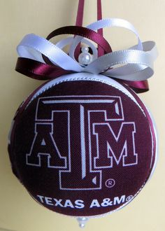 Texas A&M University Christmas Ornament by Ornament Designs on Etsy