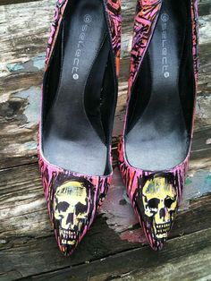 Cramps Punk Rock Shoes by MissFiendishApparel on Etsy, £35.00