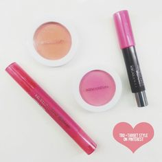 Summer Musts! Sonia Kashuk Blush in Sunset & Flushed, Revlon Just Bitten in Passion + Covergirl Jumbo Gloss Balm in 220 #brightenup