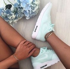 Out for a run in some Mint Nikes!