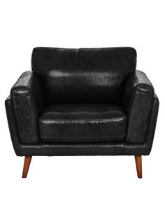 Relax in comfort and style with the Casaroma Hendrix Chair. Made from a Raven Black coloured leather, it features wooden legs and can be matched with the Hendrix Three-Seater Sofa and Ottoman (sold separately).