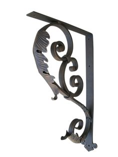 Decorative Heavy Duty Wrought Iron Angle Brackets for the support of counter tops, shelving and other support needs.