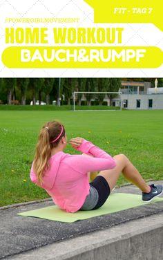 TAG 7 - FIT - Bauchmuskeltraining HAPPY - Keine Angst vor Fehlern. Ein Basisprogramm für Krafttraining Bauch Rumpf Potraining. Homeworkout leicht zu folgen. #homeworkout #fitness #sport