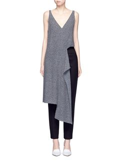 STELLA MCCARTNEY Asymmetric cutout  wool knit tunic. #stellamccartney #cloth #tunic